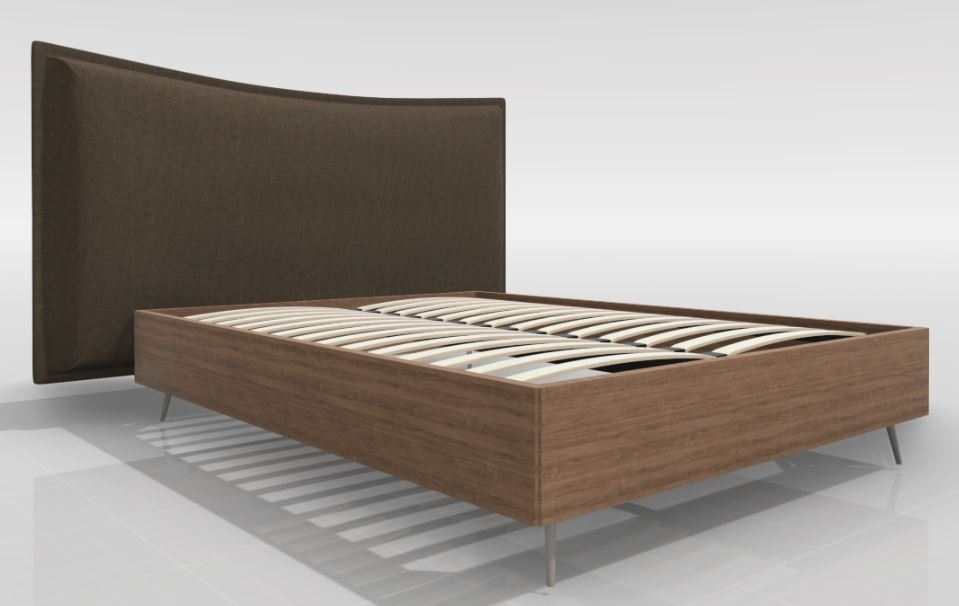 Lugano Queen Bed with Gent Headboard