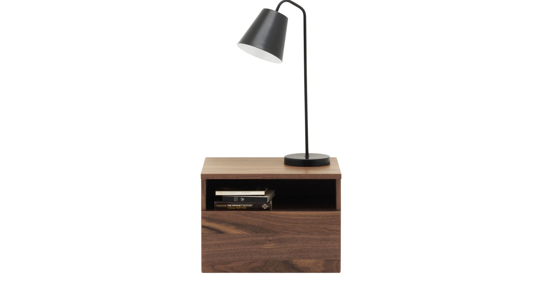 GLOBAL NIGHSTAND IN WALNUT VENEER - 1 UNIT AVAILABLE- BRAND NEW