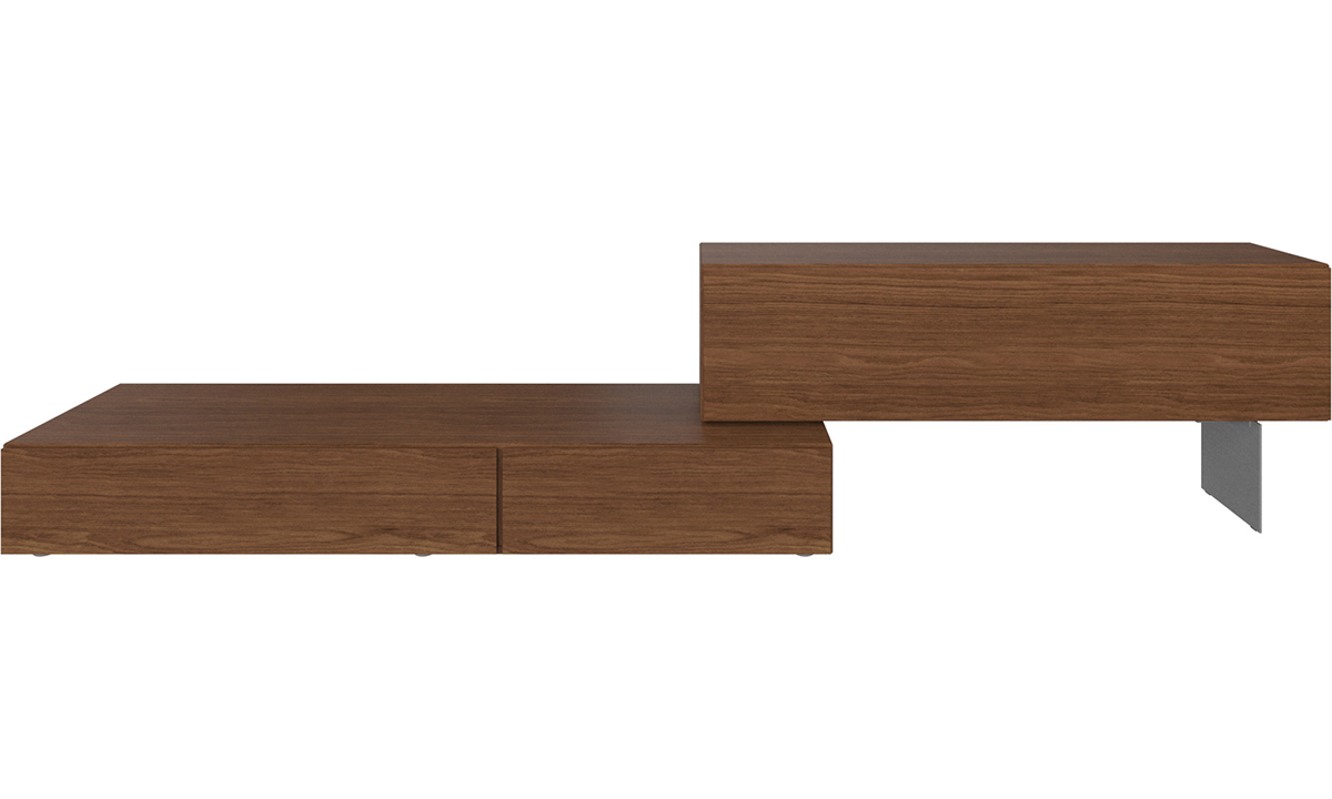 Lugano wall system with drop-down doors