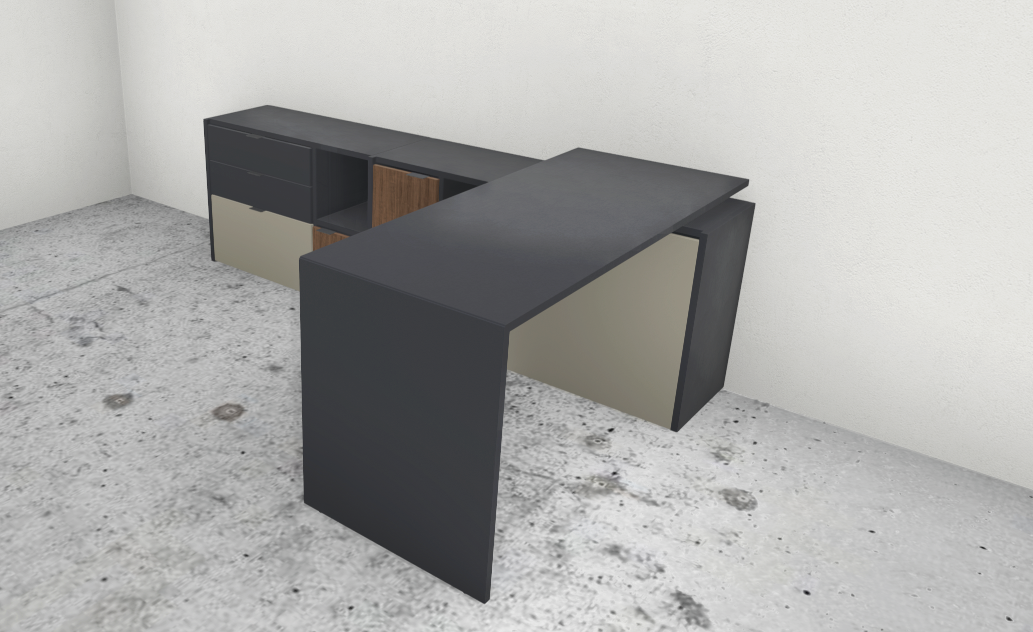 Copenhagen Desk with Storage