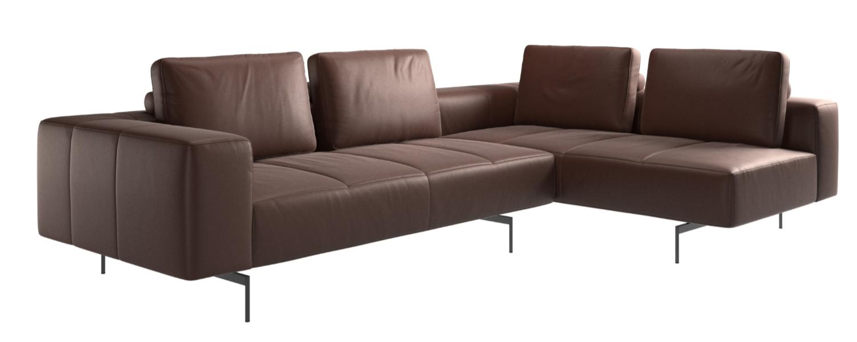 Amsterdam corner sofa with lounging unit