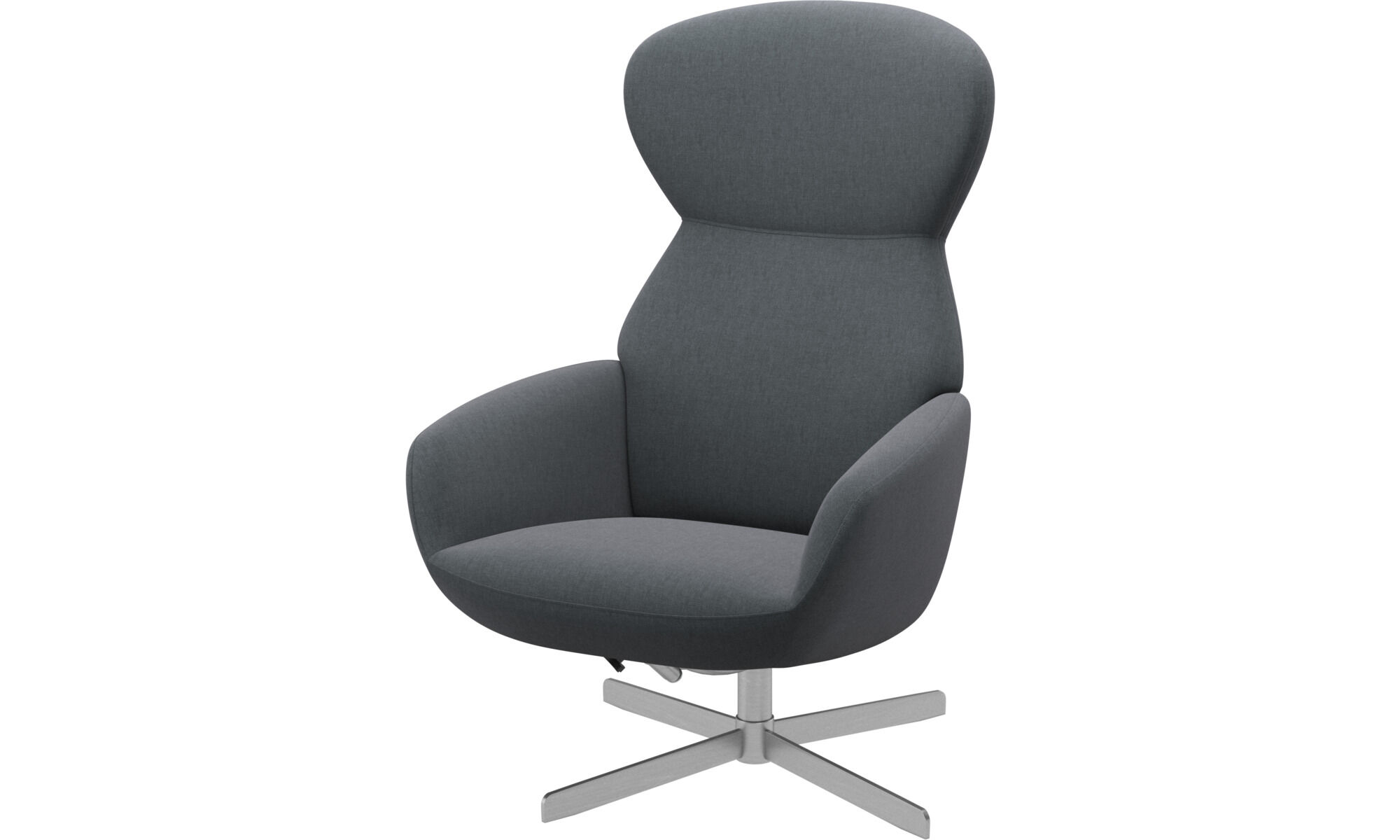 Athena Chair with reclining back function and swivel base. Available October.