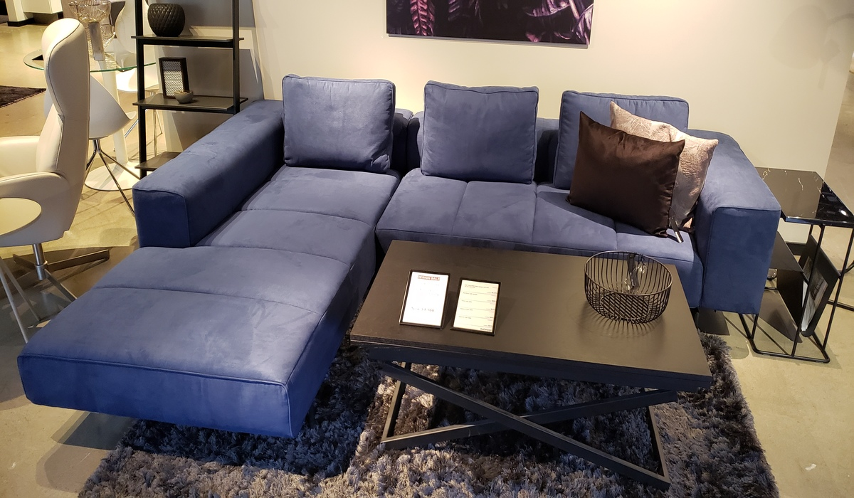 Amsterdam Sofa - Blue 2 Piece Sectional